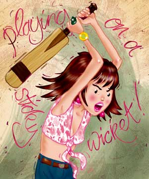 sticky wicket illustration